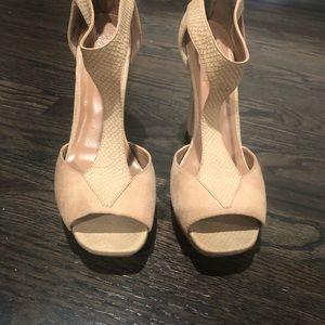 """Nude 5"""" platform heels - women's size 11"""